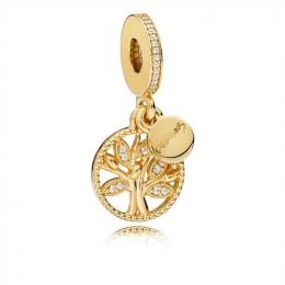 Pandora Jewelry Family Heritage Dangle Charm-Shine & Clear CZ 761728CZ