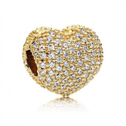 Pandora Jewelry Pave Open My Heart Clip-Pandora Jewelry Shine & Clear CZ 767156CZ