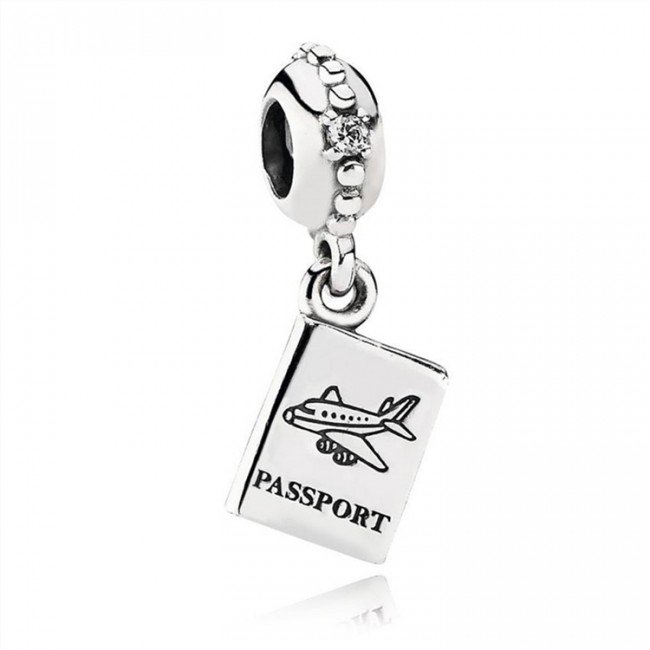 Pandora Jewelry Adventure Awaits Dangle Charm-Clear CZ 791147CZ