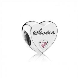 Pandora Jewelry Sister's Love Charm-Pink CZ 791946PCZ