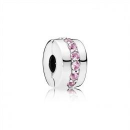 Pandora Jewelry Pink Shining Path Clip 791972PCZ