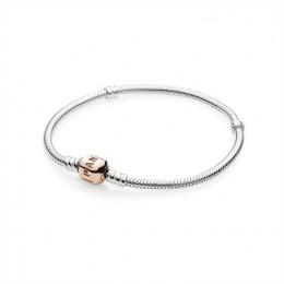 Pandora Jewelry Silver Charm Bracelet with Pandora Jewelry Rose Clasp 580702