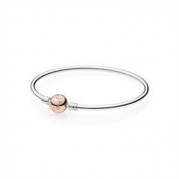 Pandora Jewelry Moments Bangle with Pandora Jewelry Rose Clasp 580713
