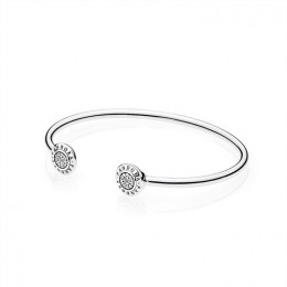 Pandora Jewelry Signature Bangle Bracelet-Clear CZ 590528CZ