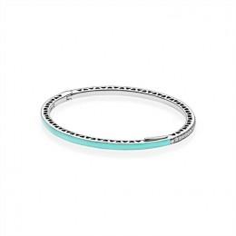 Radiant Hearts of Pandora Jewelry-Bright Mint Enamel & Clear CZ