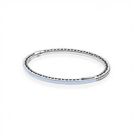 Pandora Jewelry Light Blue Radiant Hearts of Pandora Jewelry Bangle 590537EN131