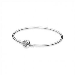 Pandora Jewelry Silver bangle bracelet with cubic zirconia 590720CZ