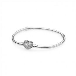 Pandora Jewelry Pave Heart Bracelet-Clear CZ 590727CZ
