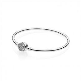 Pandora Jewelry Disney-Beauty & The Beast Bangle Bracelet-Clear CZ 590748CZ