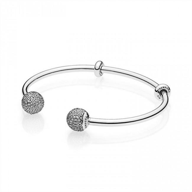 Pandora Jewelry Open Bangle Bracelet-Clear CZ 596438CZ