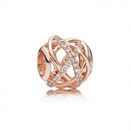 Pandora Jewelry Galaxy Charm-Pandora Jewelry Rose & Clear CZ 781388CZ