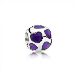 Pandora Jewelry Love You-Violet Enamel 790543EN13