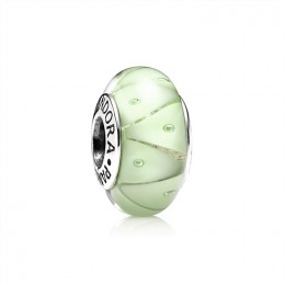 Pandora Jewelry Green Looking Glass Murano Charm 790925