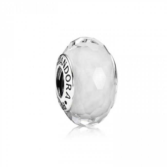 Pandora Jewelry Fascinating White Charm-Murano Glass 791070