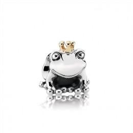 Pandora Jewelry Frog Prince Silver & Gold Charm-791118