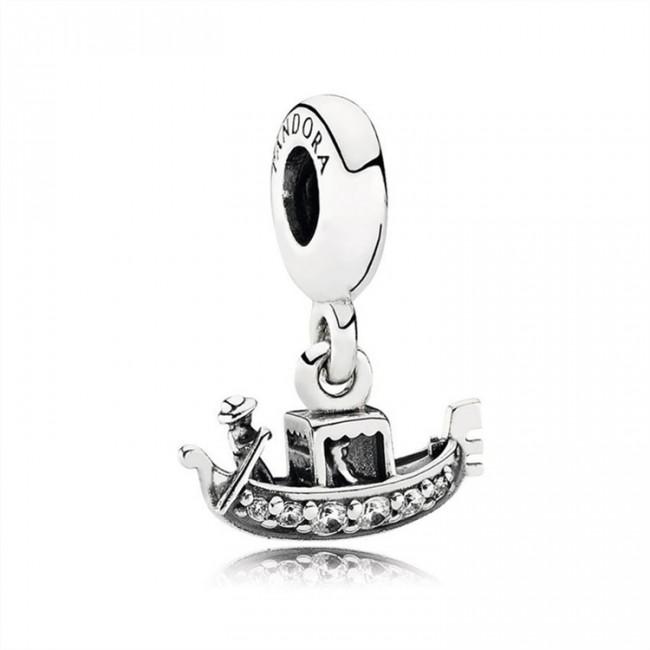 Pandora Jewelry Gondola Dangle Charm-Clear CZ 791143CZ