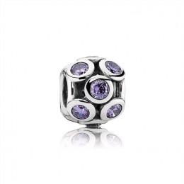 Pandora Jewelry Bedazzled Openwork Purple Zirconia & Silver Charm 791153ACZ