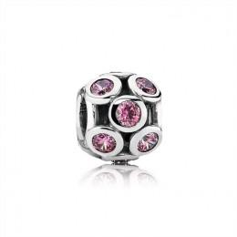 Pandora Jewelry Bedazzled Openwork Salmon Zirconia & Silver Charm 791153CZS