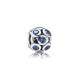 Pandora Jewelry Bedazzled Blue Openwork Silver Charm-791153NSB
