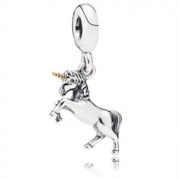 Pandora Jewelry Unicorn Silver and Gold Hanging Charm-791200