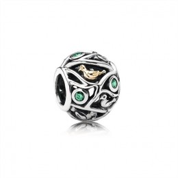 Pandora Jewelry Birds in Branches Silver & Gold Charm-791213CZN