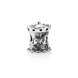 Pandora Jewelry Carousel Silver and Gold Charm-791236
