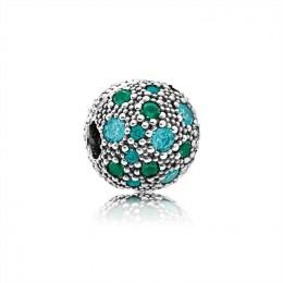 Pandora Jewelry Cosmic Stars-Multi-Colored Crystals & Teal CZ 791286MCZMX