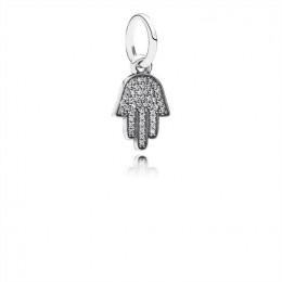 Pandora Jewelry Symbol Of Protection Dangle Charm-Clear CZ 791307CZ