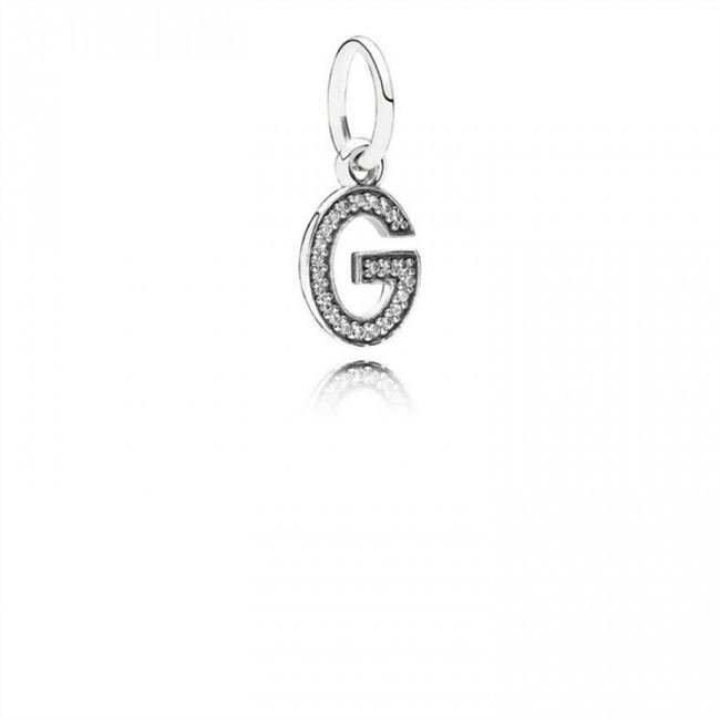 Pandora Jewelry Letter G Dangle Charm-Clear CZ 791319CZ