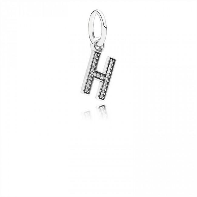 Pandora Jewelry Letter H Dangle Charm-Clear CZ 791320CZ
