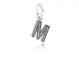 Pandora Jewelry Letter M Dangle Charm-Clear CZ 791325CZ