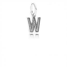 Pandora Jewelry Letter W Dangle Charm-Clear CZ 791335CZ