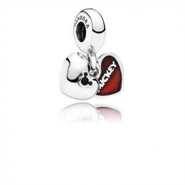 Pandora Jewelry Disney-Mickey & Minnie Dangle Charm-Red Enamel 791441NCK