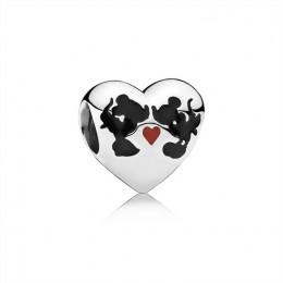 Pandora Jewelry Disney-Minnie & Mickey Kiss Charm-Mixed Enamel 791443ENMX