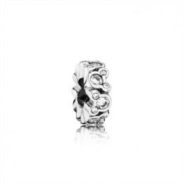 Pandora Jewelry Disney-Mickey All Around Spacer-Clear CZ 791456CZ