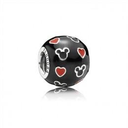 Pandora Jewelry Disney-Mickey & Hearts Charm-Mixed Enamel 791477ENMX
