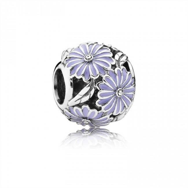 Pandora Jewelry Daisy Meadow Charm-Lavender Enamel 791487EN66