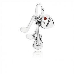 Pandora Jewelry I Love Music Dangle Charm-Red Enamel 791504EN09