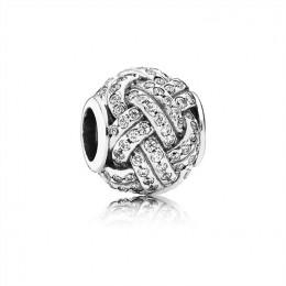 Pandora Jewelry Sparkling Love Knot Charm 791537CZ