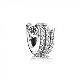 Pandora Jewelry Sparkling Snake Charm-Clear CZ & Black Crystal 791539cz