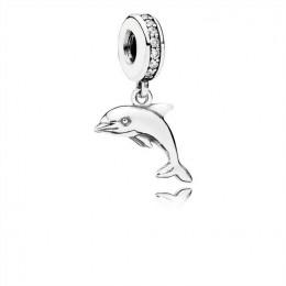 Pandora Jewelry Playful Dolphin Dangle Charm-Clear CZ 791541CZ