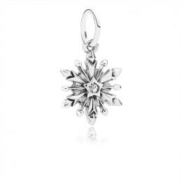 Pandora Jewelry Disney-Frozen Snowflake Dangle Charm-Clear CZ 791564CZ