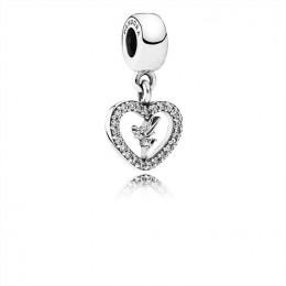 Pandora Jewelry Disney-Love Tinker Bell Dangle Charm-Clear CZ 791565CZ