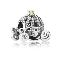 Pandora Jewelry Disney-Cinderella's Pumpkin Coach Charm-Clear CZ 791573CZ