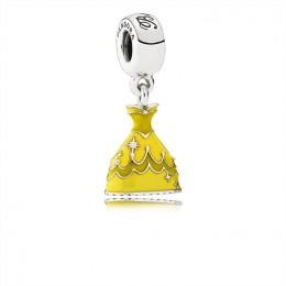 Pandora Jewelry Disney-Belle's Dress Dangle Charm-Mixed Enamel 791576ENMX
