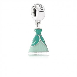 Pandora Jewelry Disney-Ariel's Dress Dangle Charm-Mixed Enamel 791577ENMX