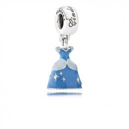 Pandora Jewelry Disney-Cinderella's Dress Dangle Charm-Mixed Enamel 791578ENMX