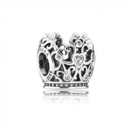 Pandora Jewelry Disney-Princess Crown Charm-Clear CZ 791580CZ