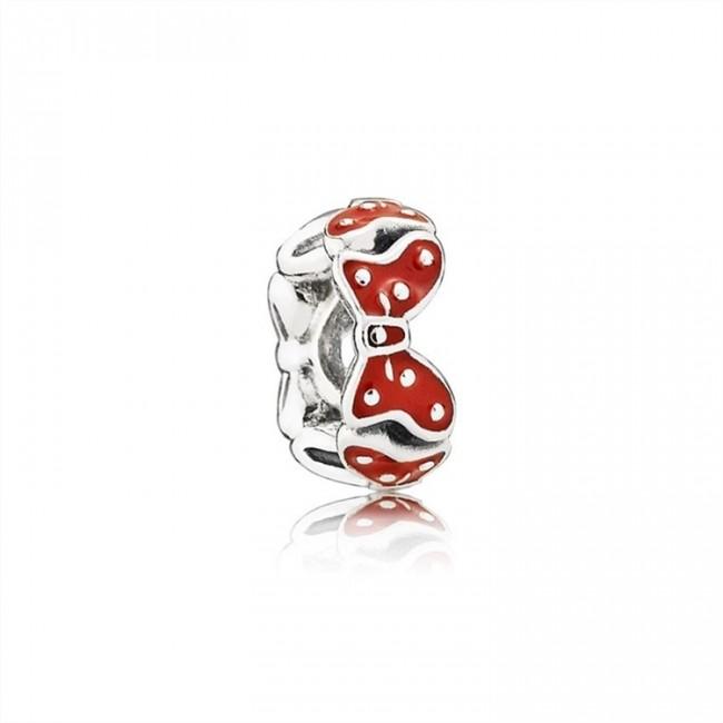 Pandora Jewelry Disney Minnie bow silver spacer with red enamel 791582EN09