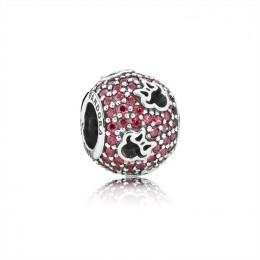 Pandora Jewelry Disney-Minnie Silhouettes Charm-Red CZ 791584CZR
